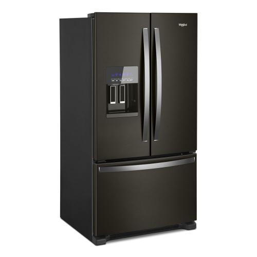 Whirlpool - 36-inch Wide French Door Refrigerator in Fingerprint-Resistant Stainless Steel - 25 cu. ft.