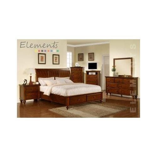 Elements - Chatham King Storage Bed (*Full Assembly Dimension