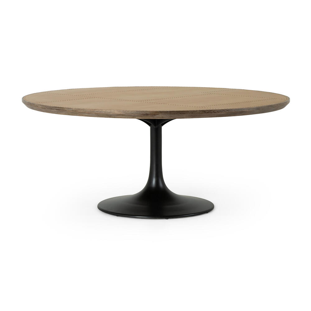 """Bright Brass Clad Finish 71"""" Size Powell Dining Table"""