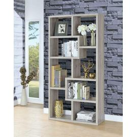 See Details - Transitional Grey Driftwood Bookcase