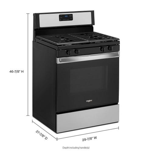 Whirlpool - 5.0 cu. ft. Whirlpool® gas range with SpeedHeat™ burner