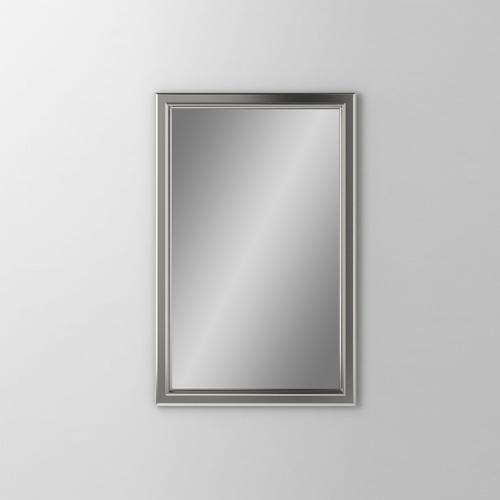 """Main Line 19-1/8"""" X 29-7/8"""" X 1-5/8"""" Bryn Mawr Framed Mirror In Satin Nickel"""