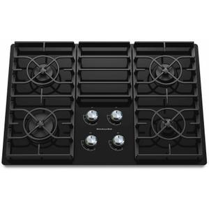 30-Inch 4 Burner Gas Cooktop, Architect® Series II - Black -