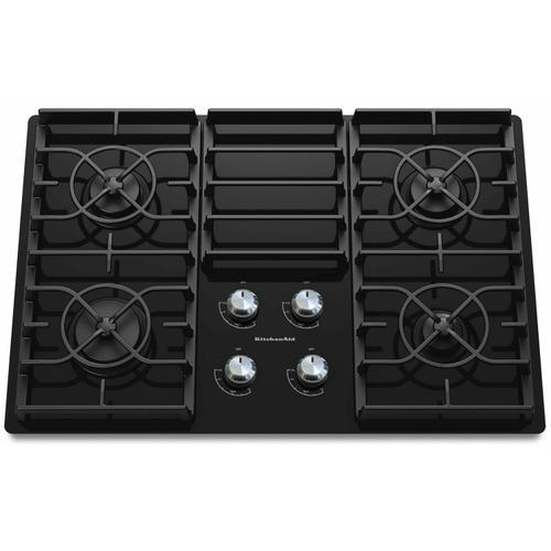 KitchenAid - 30-Inch 4 Burner Gas Cooktop, Architect® Series II - Black