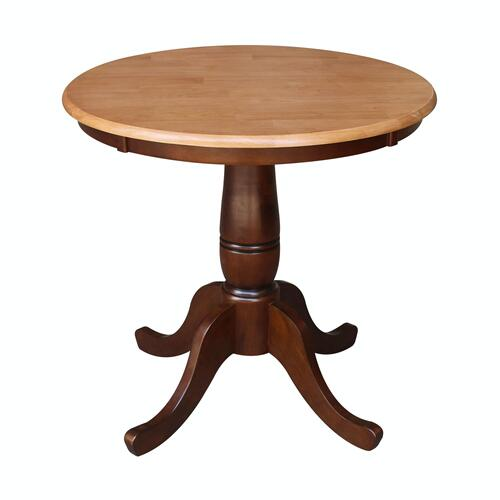 "Product Image - 30"" Pedestal Table in Cinnamon / Espresso"