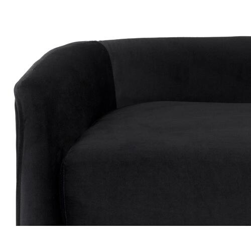 Sunpan Modern Home - Sammy Bench - fabric: black sky