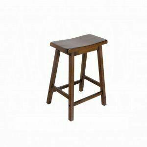 "ACME Gaucho Counter Height Stool (Set-2) - 07304 - Walnut - 24"" Seat Height"