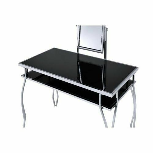 ACME Carene Vanity Set - 90312 - Black & Chrome