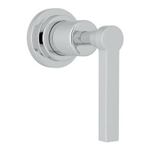 Lombardia Trim for Volume Control and 4-Port Dedicated Diverter - Polished Chrome with Metal Lever Handle