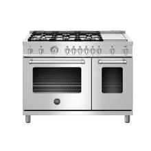 "48"" Master Series range - Gas Oven - 6 aluminum burners + griddle - LP version"