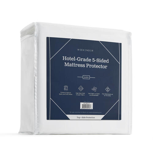 Weekender Hotel-Grade 5-Sided Mattress Protector, Twin