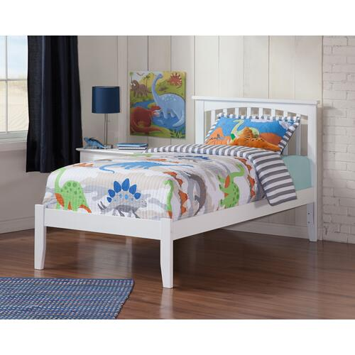 Atlantic Furniture - Mission Twin XL Open Foot White