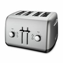 See Details - 4-Slice Toaster with Manual High-Lift Lever - Contour Silver