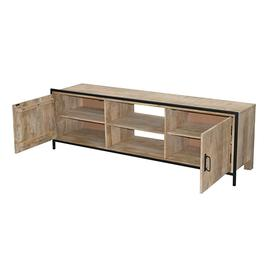 See Details - Console - Natural/Iron Finish