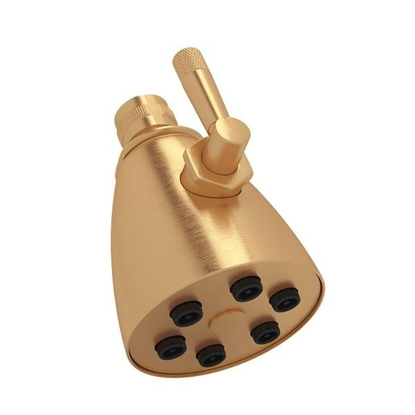 "Satin Gold 3"" Michael Berman Graceline 6-Jet Adjustable Showerhead"