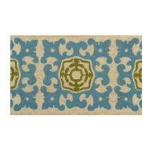 Doormat Sacha Teal/Green 18x30