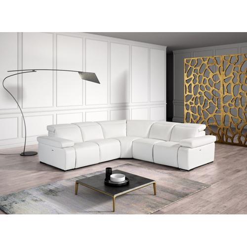 VIG Furniture - Estro Salotti Hyding - Italian Modern White Leather Sectional Sofa