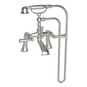 Satin Nickel - PVD Exposed Tub & Hand Shower Set - Deck Mount