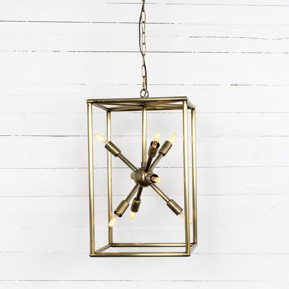 Jaxon Tall Chandelier-antique Brass