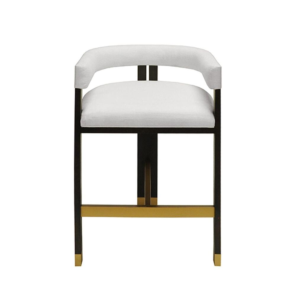 Perfectly Tailored In Crisp White Linen Upholstery, the Barrel Back Cruise Counter Stool Exudes Mid Century Mod Style and Attitude. Its Durable Tri-leg, Solid Oak Frame With Rich Espresso Finish Forms A Highly Sought-after Silhouette That's Perfect for All Occasions.