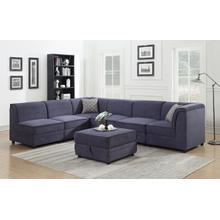 See Details - Charlotte Modular Armless Chair, Blue