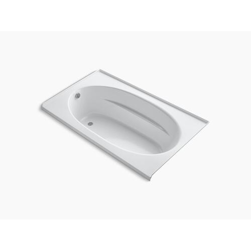 """White 72"""" X 42"""" Alcove Bath With Integral Flange and Left-hand Drain"""