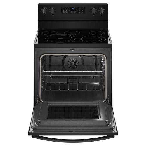 Whirlpool - 5.3 cu. ft. Whirlpool® electric range with Frozen Bake™ technology Black