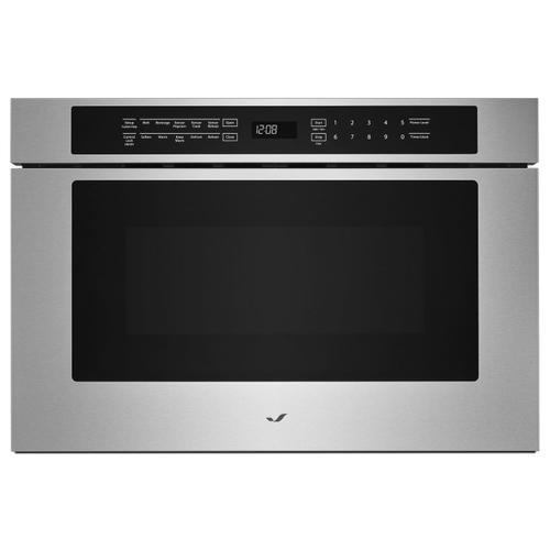 """JennAir - Stainless Steel 24"""" Under Counter Microwave Oven with Drawer Design Stainless Steel"""