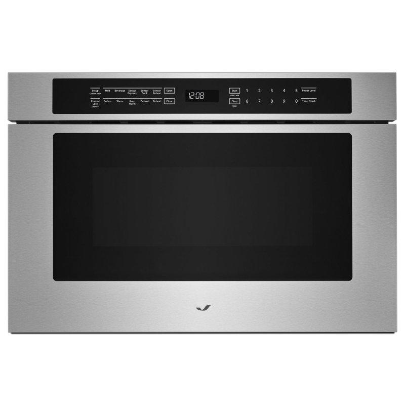 """Stainless Steel 24"""" Under Counter Microwave Oven with Drawer Design Stainless Steel"""
