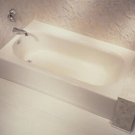 Princeton 60x34 inch Integral Apron Bathtub with Ledge and Overflow  American Standard - Arctic White