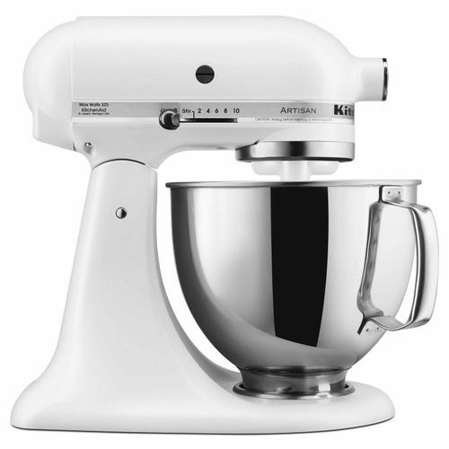 KitchenAid - Artisan® Series 5 Quart Tilt-Head Stand Mixer - Matte White