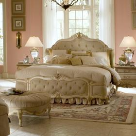 Eastern King Wing Mansion Bed