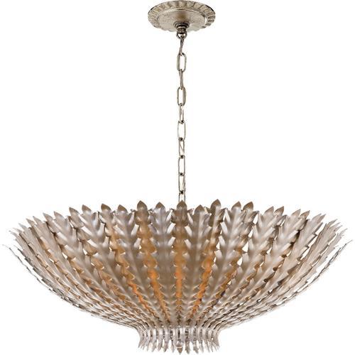 AERIN Hampton 6 Light 26 inch Burnished Silver Leaf Chandelier Ceiling Light, Large