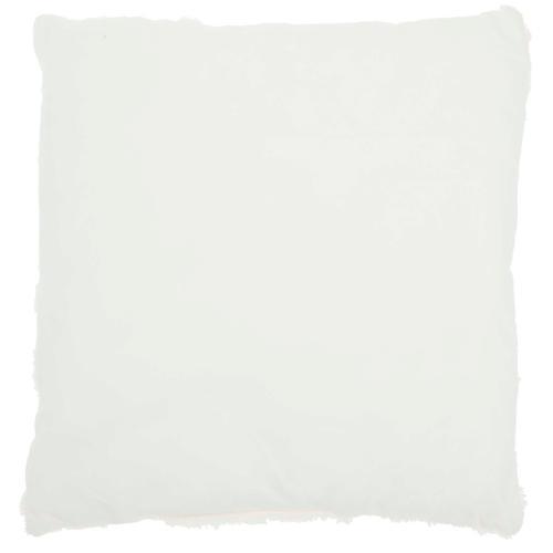 """Fur Vv201 Pink 20"""" X 20"""" Throw Pillow"""