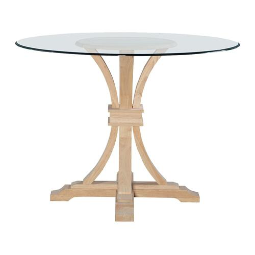 "John Thomas Furniture - Flair Pedestal Base for Glass Top. Glass sold seperetly (48""Diameter = Glass-48B)."