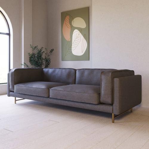 Gallery - Divani Casa Keswick - Modern Grey Fabric Sofa