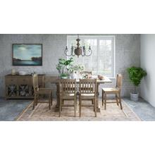Carlyle Crossing Table with 4 Slatback Stools, 1 Bench