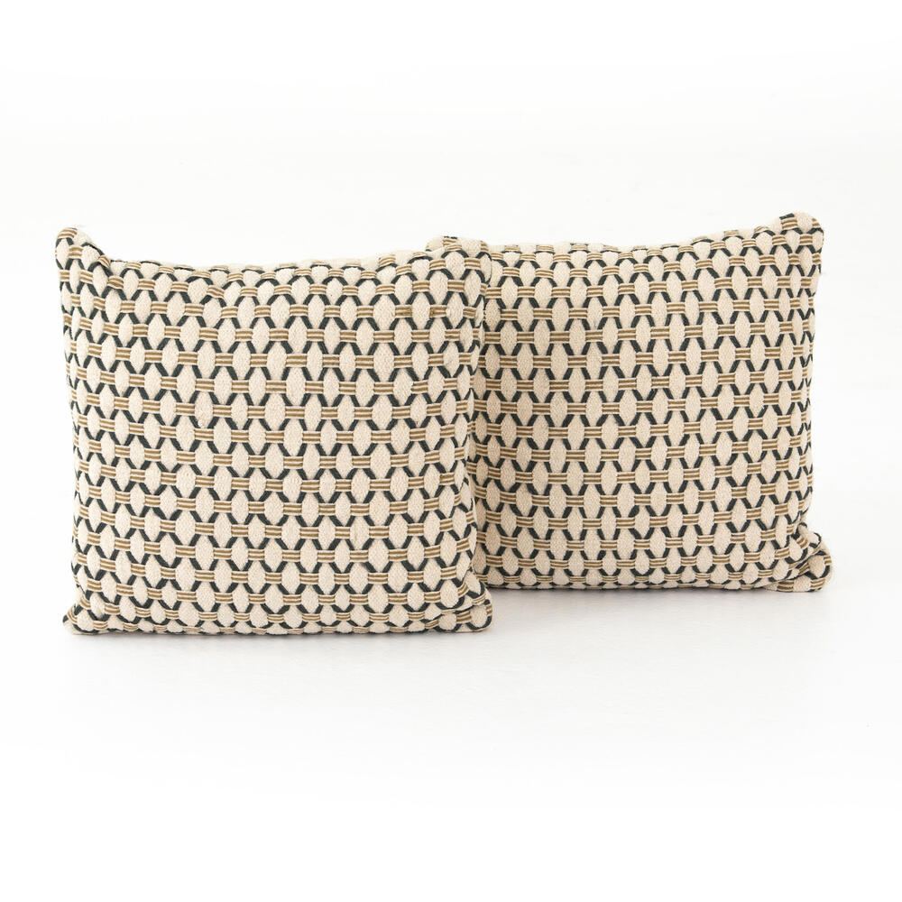 "Mariposa Diamond Pillow, Set of 2-20"""