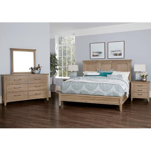 MANSION BED WITH LOW PROFILE FOOTBOARD IN DEEP SAND
