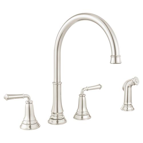 Delancey Widespread Kitchen Faucet  American Standard - Polished Nickel
