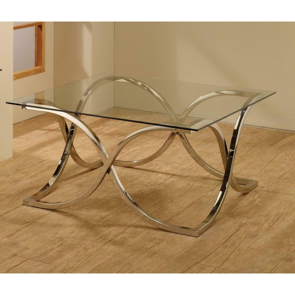 See Details - Contemporary Nickel Coffee Table