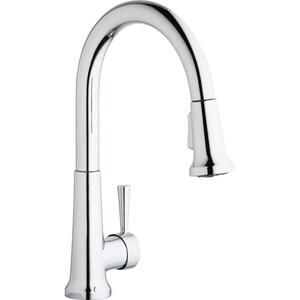 Elkay Everyday Single Hole Deck Mount Kitchen Faucet with Pull-down Spray Forward Only Lever Handle Product Image
