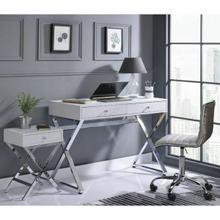 ACME Coleen Desk - 92610 - White & Chrome