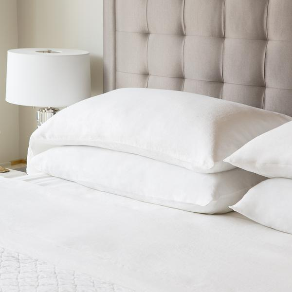 French Linen Queen Pillowcase Charcoal