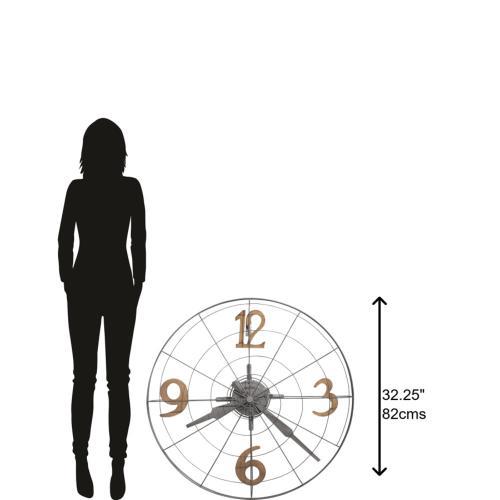 Howard Miller Phan Metal Oversized Wall Clock 625635