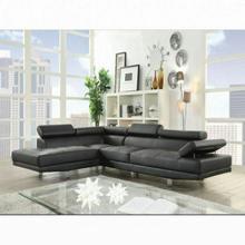 ACME Connor Sectional Sofa - 52650 - Black PU