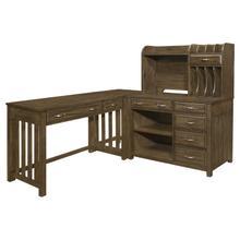 See Details - 4pc Corner Desk (Desk+Corner+Credenza+Hutch)