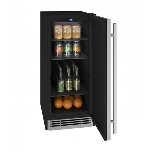 U-Line - Hre115 15 Refrigerator With Stainless Solid Finish (115v/60 Hz Volts /60 Hz Hz)
