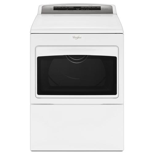 7.4 cu.ft Top Load HE Gas Dryer with AccuDry , Intuitive Touch Controls White