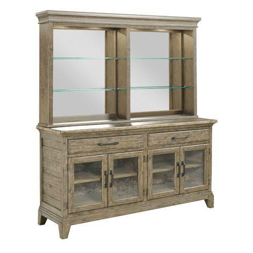 Gallery - Plank Road Rockland Hutch and Buffet Stone Finish